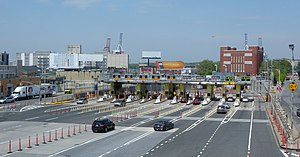 Congestion pricing in New York City - Image: BBT toll plaza jeh