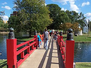 Big Spring Park (Huntsville, Alabama) - The Japanese bridge in Big Spring Park