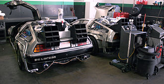 DeLorean time machine - Two DeLorean time machine replicas