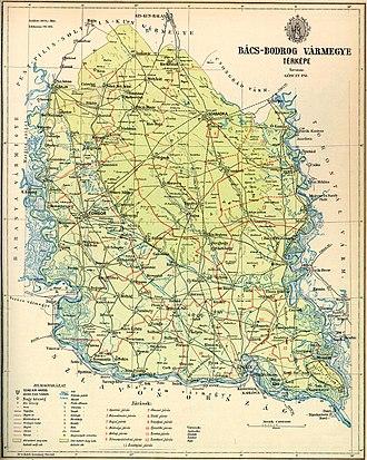 Bačka - Image: Bacs Bodrog county map