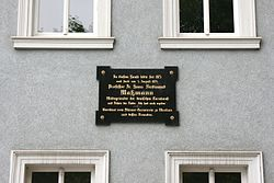 Photo of Hans Ferdinand Maßmann black plaque