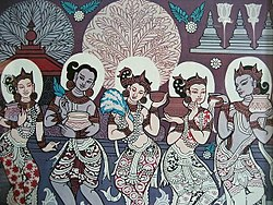 Bagan era painting of Thingyan.jpg