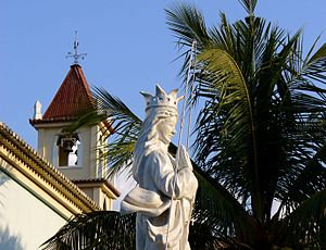 Religion in East Timor - Statue of Saint Mary outside Balide church, East Timor
