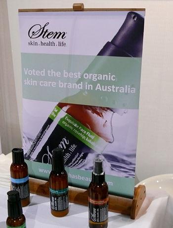 English: Stem organic skin care POS bamboo min...