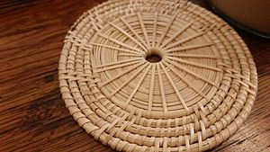 Drink coaster - A drink coaster made from bamboo strips