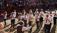 El pasodoble Amparito Roca interpretado por la Banda de Zestoa en las fiestas de 2010