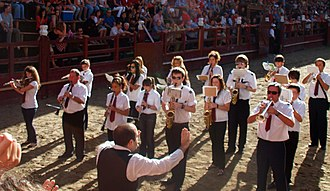 Pasodoble - Amparito Roca being played by a wind band