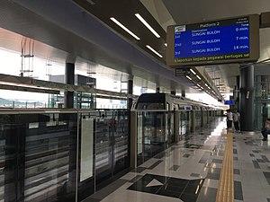 Bandar Utama MRT station - Platform 2 of the Bandar Utama station towards Sungai Buloh.