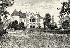 Banffy Castle in Bontida, drawing from 19 century.jpg
