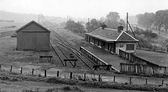 Bankfoot - Until 1931 Bankfoot had a railway station, seen here in 1961.
