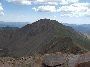 Bard Peak - Bard Peak as seen from Mount Parnassus.