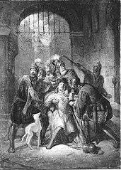 Anno 1049. Graaf Dirk IV van Holland wordt door een pijl gedood