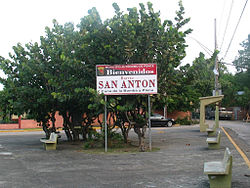 Sign marking an entrance to Barrio San Anton