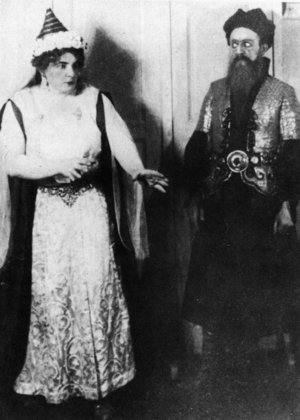 Bartók - Bluebeards's Castle - Olga Haselbeck and Oszkár Kálmán in the first performance 1918.png