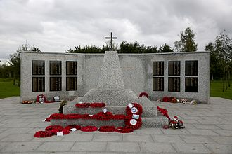 British Forces casualties in Afghanistan since 2001 - The replica of the memorial from Camp Bastion at the National Memorial Arboretum.