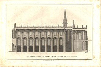 James Cavanah Murphy - Longitudinal Section of the Church of Batalha in Portugal, from Plans, Elevations, Sections, and Views of the Church of Batalha