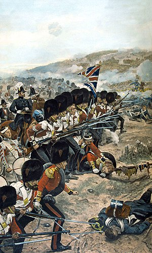 """The Coldstream Guards at the Alma"" von R. C. Woodville"