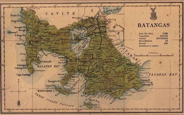 Batangas province 1918 map