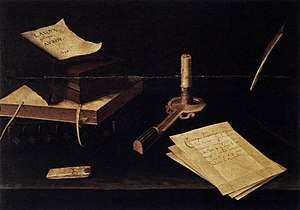 Lubin Baugin - Still life with Candle (1630), oil on wood, Galleria Spada, Rome