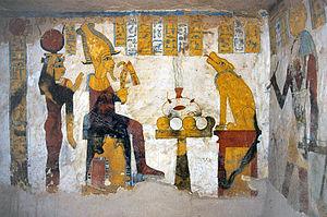 Teil der Gerichtsszene im Grab des Baennentiu