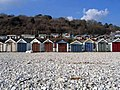 Beach Huts at Monmouth Beach - geograph.org.uk - 412661.jpg
