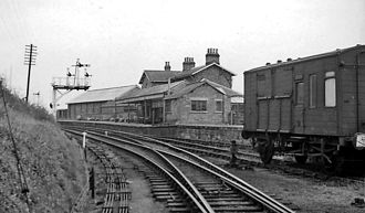 Bedale railway station - Bedale Station in 1961