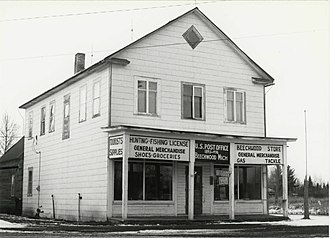 National Register of Historic Places listings in Iron County, Michigan - Image: Beechwood Store Iron River 1979