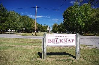 Belknap, Illinois - Welcome sign in Belknap