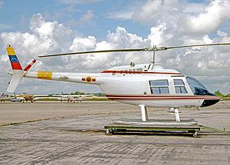 Venezuelan National Guard - Bell Jet Ranger of the VNG in 1979.