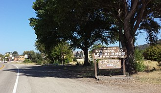 Los Alamos, California - Welcome sign, Bell Street, Los Alamos