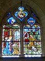 Belle-Église (60), église Saint-Martin, collatéral nord, verrière n° 1 - Annonciation.JPG