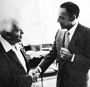 Frank Sinatra and Jewish activism - Sinatra and Ben-Gurion