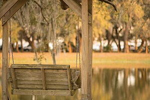 Johnson University Florida - Image: Bench Overlooking Lake