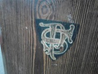 "St Pancras Church, Ipswich - An interlaced ""S"" and ""P"" from an original front pew from the 1860s"