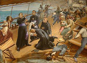 SS Sirio - The sinking of the SS Sirio, by Benedito Calixto