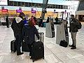 Bergen Lufthavn, Flesland (Bergen Airport, BGO) Terminal 3 avgangshall departure hall NORWAY 2017-10-26 a self-service check-in machines.jpg