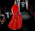 Bhumi Pednekar walks for Rucera at Lakme Fashion Week 2017 (07).jpg