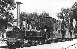 Anatole Mallet - Early Mallet 2-cylinder compound locomotive working the Bayonne-Anglet-Biarritz (B.A.B.) Railway .