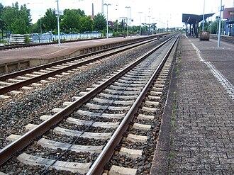 Mannheim–Frankfurt railway - LZB in Biblis station
