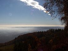 Panorama di Biella dalle alture