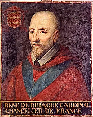 René de Birague - Portrat of René de Birague by an anonymous artist.