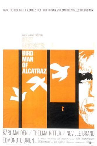 Birdman of Alcatraz (film) - original film poster by Saul Bass