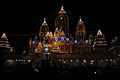 Birla Mandir, Delhi, views at night1.JPG