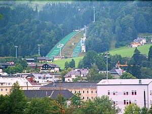 Bischofshofen - View over Bischofshofen and Paul-Ausserleitner-Schanze