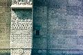 Biserica Sf. Trei Ierarhi, Iași - detalii sculptate pe contraforți.jpg