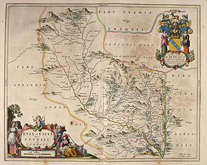 Liddel Water - Blaeu - Atlas of Scotland 1654