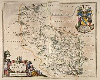 Liddel Water - Blaeu - Atlas of Scotland 1654