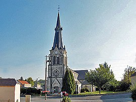 The church in Blanzy-la-Salonnaise