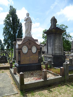 Charles Blondin - Blondin's grave at Kensal Green Cemetery, London.