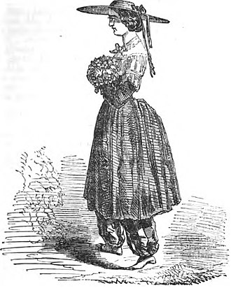 Bloomers (clothing) - Bloomer Costume (Robert Chambers, The Book of Days, 1864)